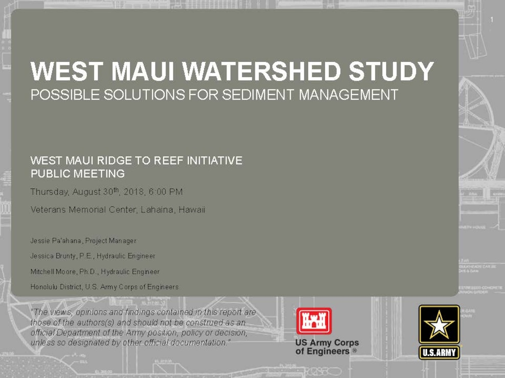 West Maui Watershed Study