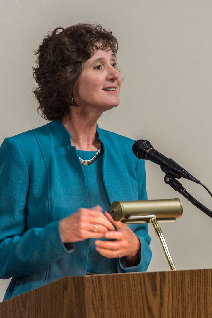 NSA's Chief of Staff Elizabeth Brooks introduced Jones to the audience.