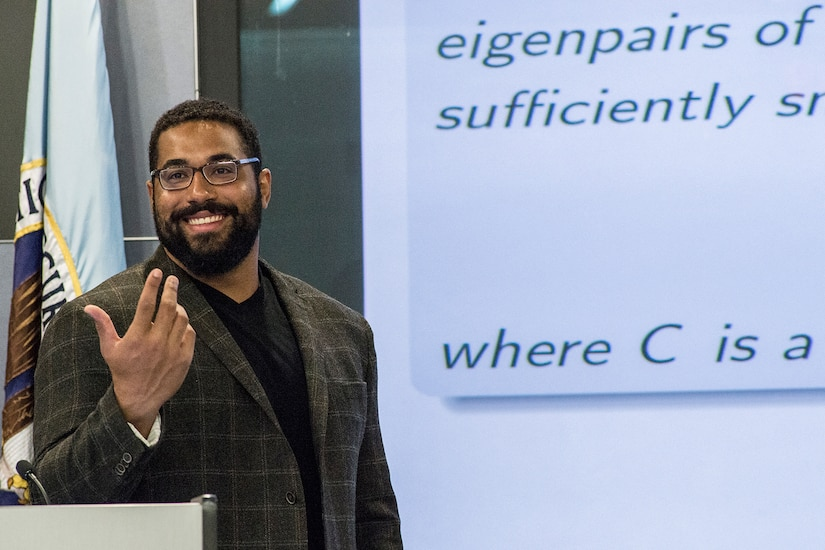 John Urschel, Baltimore Ravens, visited NSA Friday, June 5.