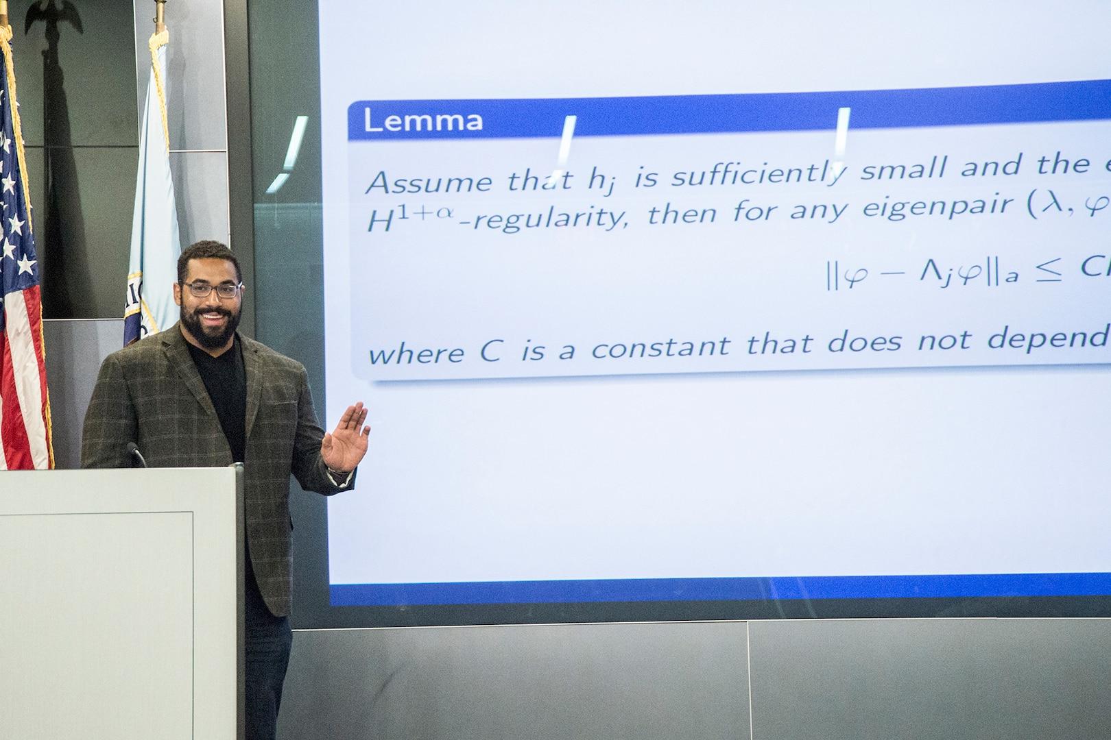 Urschel spoke at NSA's Mathfest which celebrates NSA mathematicians.