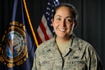 Staff Sgt. Kirsten E. Arends, a command post controller assigned to the 157th Air Refueling Wing, poses for a portrait on August 8, 2018 at Pease Air National Guard Base, N.H Arends traveled to El Salvador to serve as an iterim bilateral affairs representative as part of the N.H. National Guard's State Partnership Program with El Salvador.