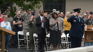 Ben Carson addresses at Dover AFB's 9/11 ceremony