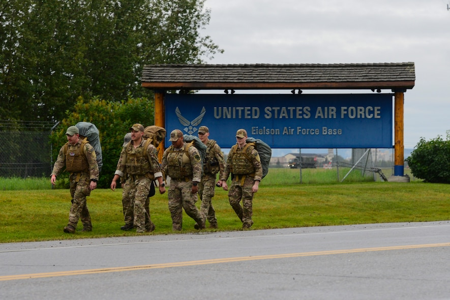 EOD members rucked an average of 30 miles a day with 220 total miles to the Arctic Circle.