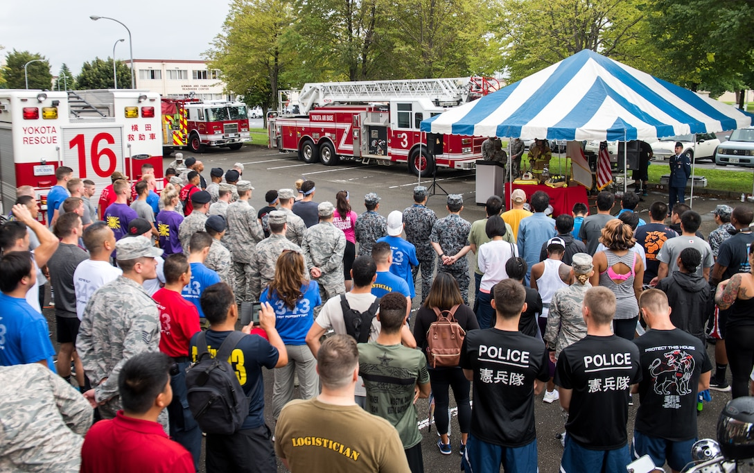 Team Yokota and local firefighters joined together to pay tribute
