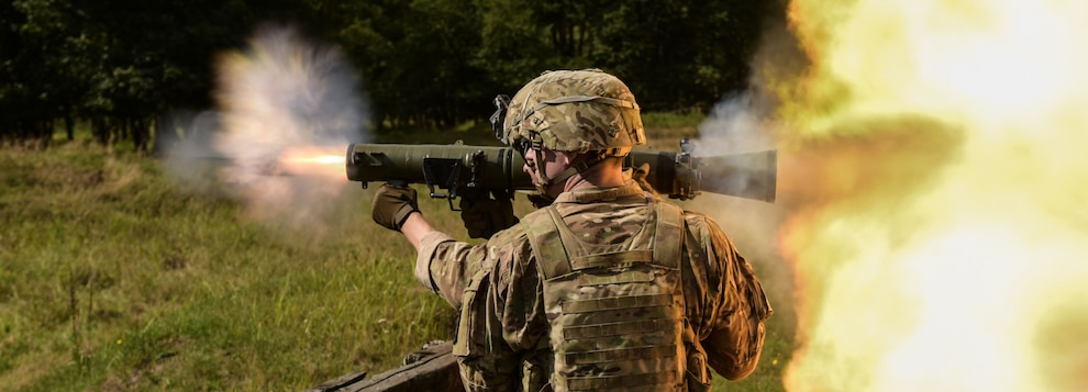 U.S. Soldiers assigned to the 1st Battalion, 503rd Infantry Regiment, 173rd Airborne Brigade engaged targets with the Carl Gustaf 84mm weapon system