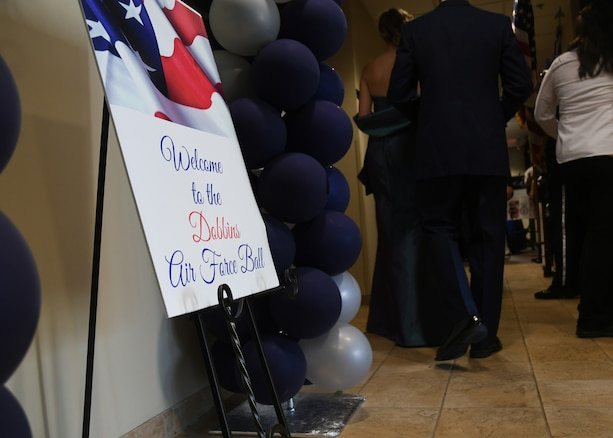 The 94th Airlift Wing hosted an Air Force Ball at Dobbins Air Reserve Base, Ga, Sept. 8, 2018. The ball commemorated the 71st birthday of the United States Air Force, and allowed members the opportunity to eat, drink, socialize, and relax. (U.S. Air Force Photo by Staff Sgt. Miles Wilson)