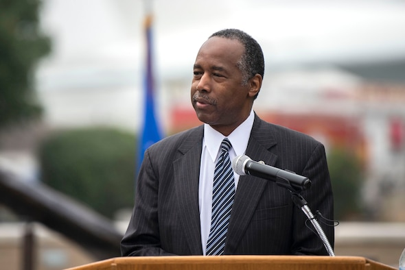 Dr. Ben Carson, Housing and Urban Development secretary, speaks at a 9/11 Memorial Service Sept. 11, 2018, at the Air Mo(bility Command Museum on Dover Air Force Base, Delaware. Carson spoke about the unity among Americans since the terrorist attacks on Sept. 11, 2001, and about how the American people must keep the memory alive for future generations.