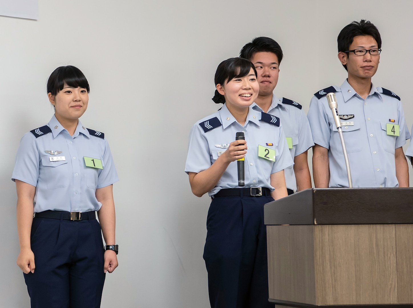JASDF Airmen compete in English skills contest at Misawa AB