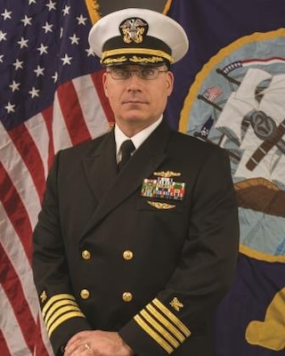 "Captain Patrick ""Shane"" Brown, USN.  Commanding Officer, Naval Sea Logistics Center"