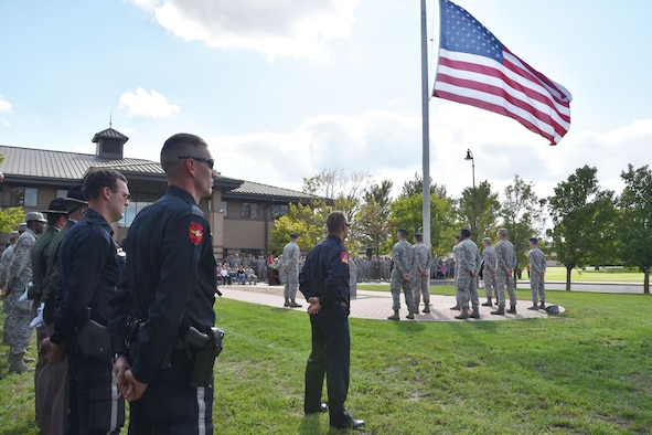 Team McConnell remembered the terror attacks of September 11, 2001, with a Patriot Day ceremony, Sept. 11, 2018, at McConnell Air Force Base, Kan. The ceremony paid special tribute to the victims and families of those lost in New York, Pennsylvania and in the Pentagon.