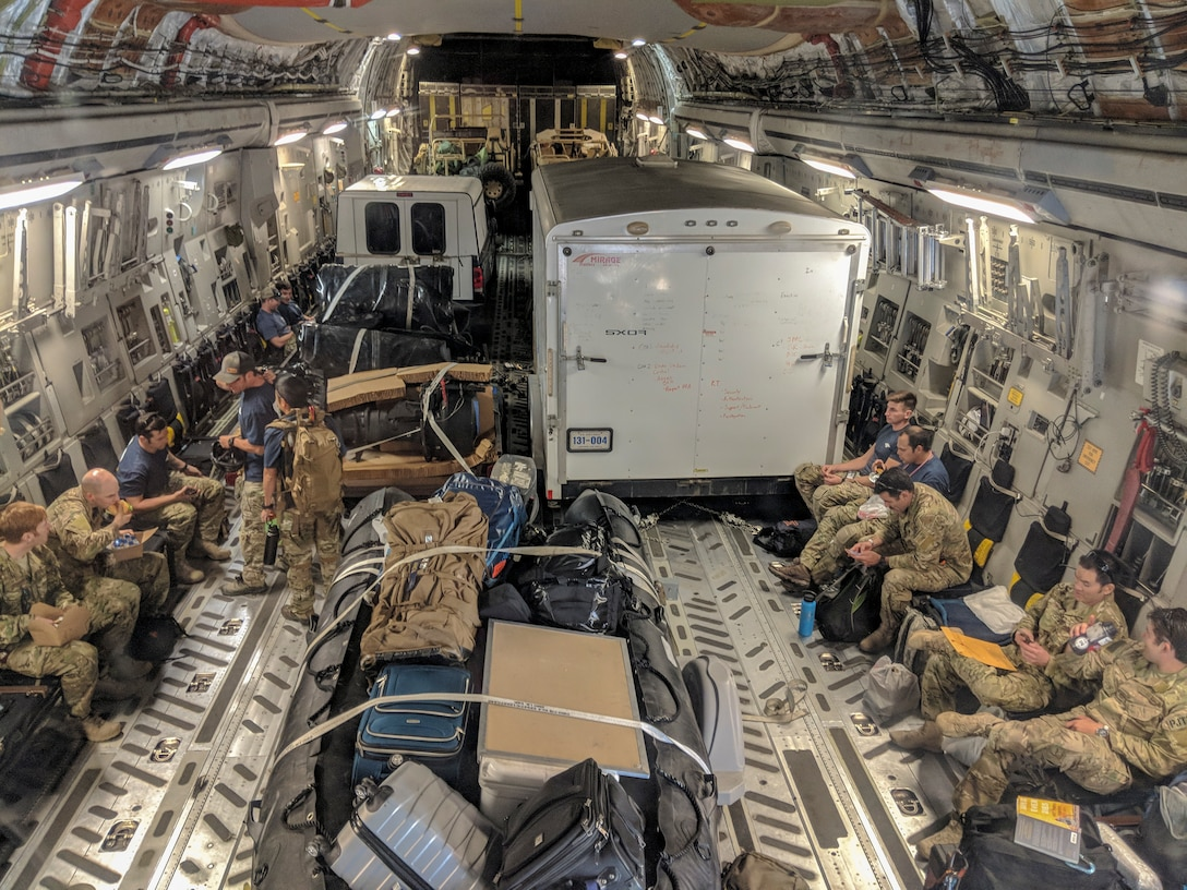 Alaska Guardsmen respond to Hurricane Florence.