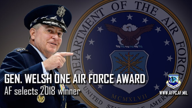 Gen. Welsh One Air Force award; AF selects 2018 winner
