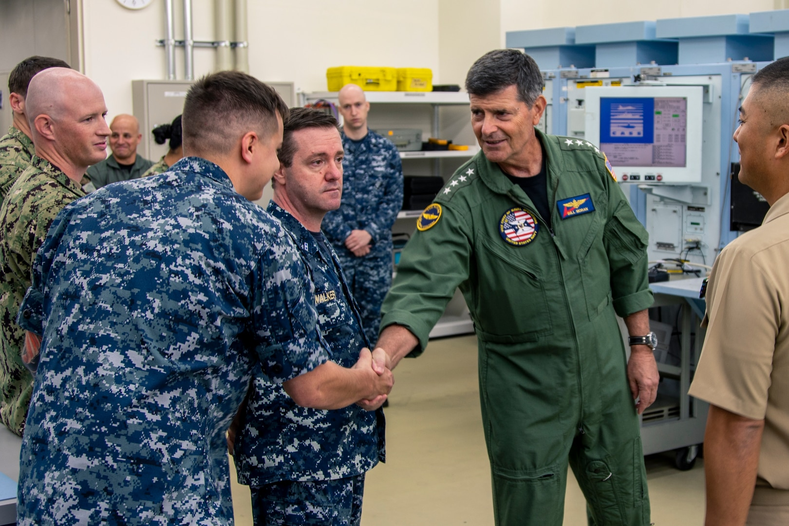 VCNO, MCPON visit USS Blue Ridge