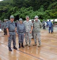 Koku Jieitai (Japan Air Self Defense Force) hosted U.S. Air Force members during their two-day live-fire, rapid airfield damage repair demonstration, August 8-9, 2018, Ohjoji-hara Exercise Range, Sendai, Japan.