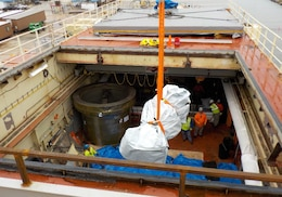 In October 2015, the first low-level radiological waste was removed from the STURGIS as part of the decommissioning of reactor aboard the Army's retired floating nuclear power plant in Galveston, Texas. This removal of the spent fuel rod transfer cask and the spent control rod transfer cask was a significant milestone in the STURGIS decommissioning effort as it marked the beginning of the Corps of Engineers' radiological decommissioning of the STURGIS, an effort that was completed in 2018.
