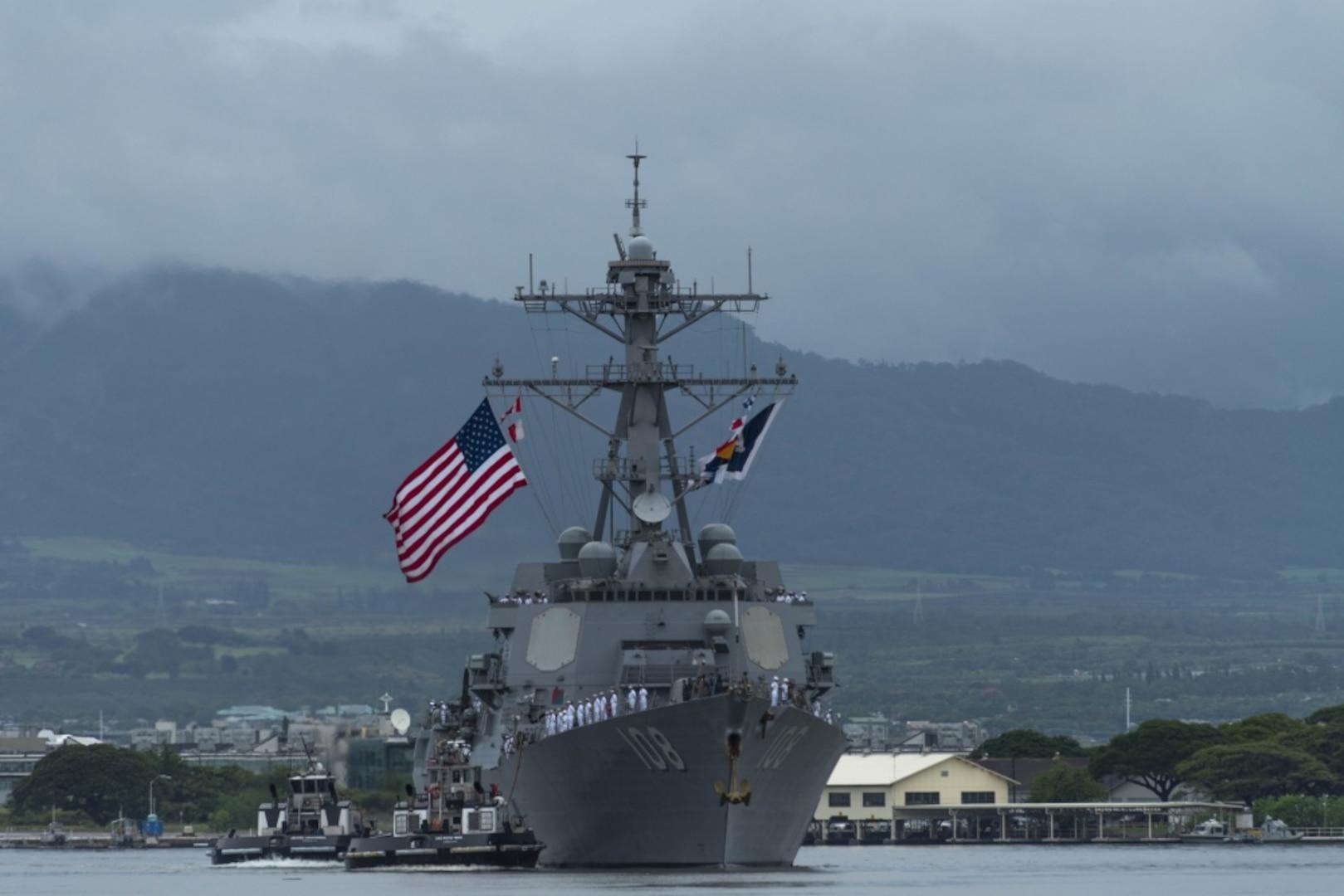 Hawaii bids aloha to USS O'Kane, USS Wayne E. Meyer