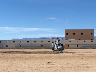 ITX 2-18 Rapid extraction training - Huey standing by