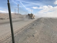 ITX 2-18 Tank Battalion support on the move