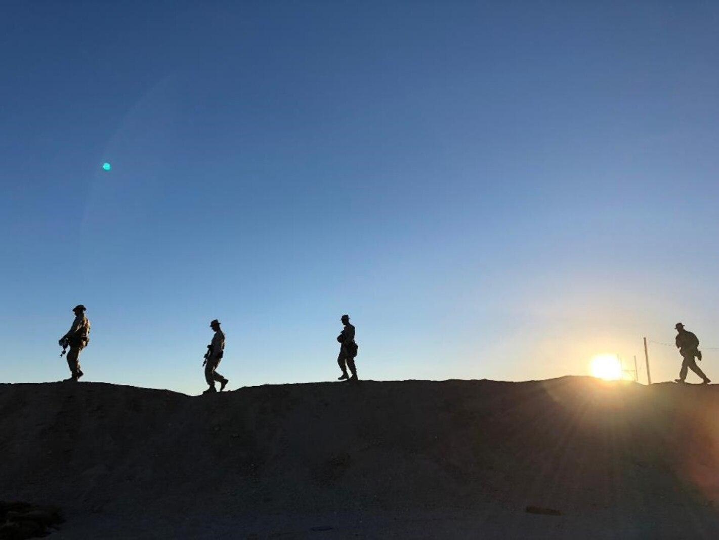 Island Warriors at sunset