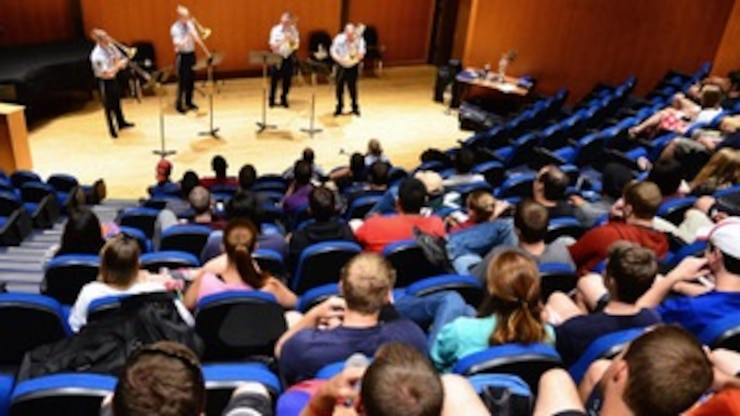 U.S. Air Force Band Trombone Quartet Performs for Florida State University Students.