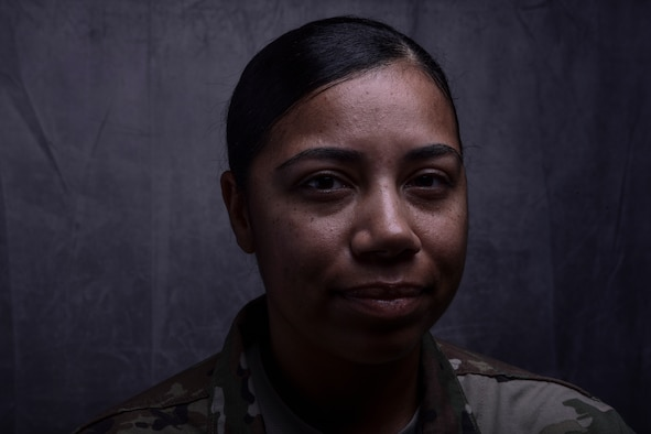 Tech. Sgt. Nakisha Simon, 386th Expeditionary Medical Group Bioenvironmental Engineering non-commissioned officer in charge, has turned her previous battles with mental health into way to help other Airmen during her 15-year career. Simon is deployed from the 355th Aerospace Medicine Squadron at Davis-Monthan Air Force Base, Arizona. (U.S. Air Force photo by Staff Sgt. Christopher Stoltz)