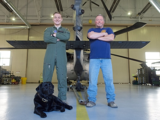 Father and son serve in the Alaska Air National Guard.