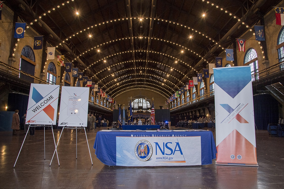 NSA NCX presentation materials are on display in Annapolis, MD