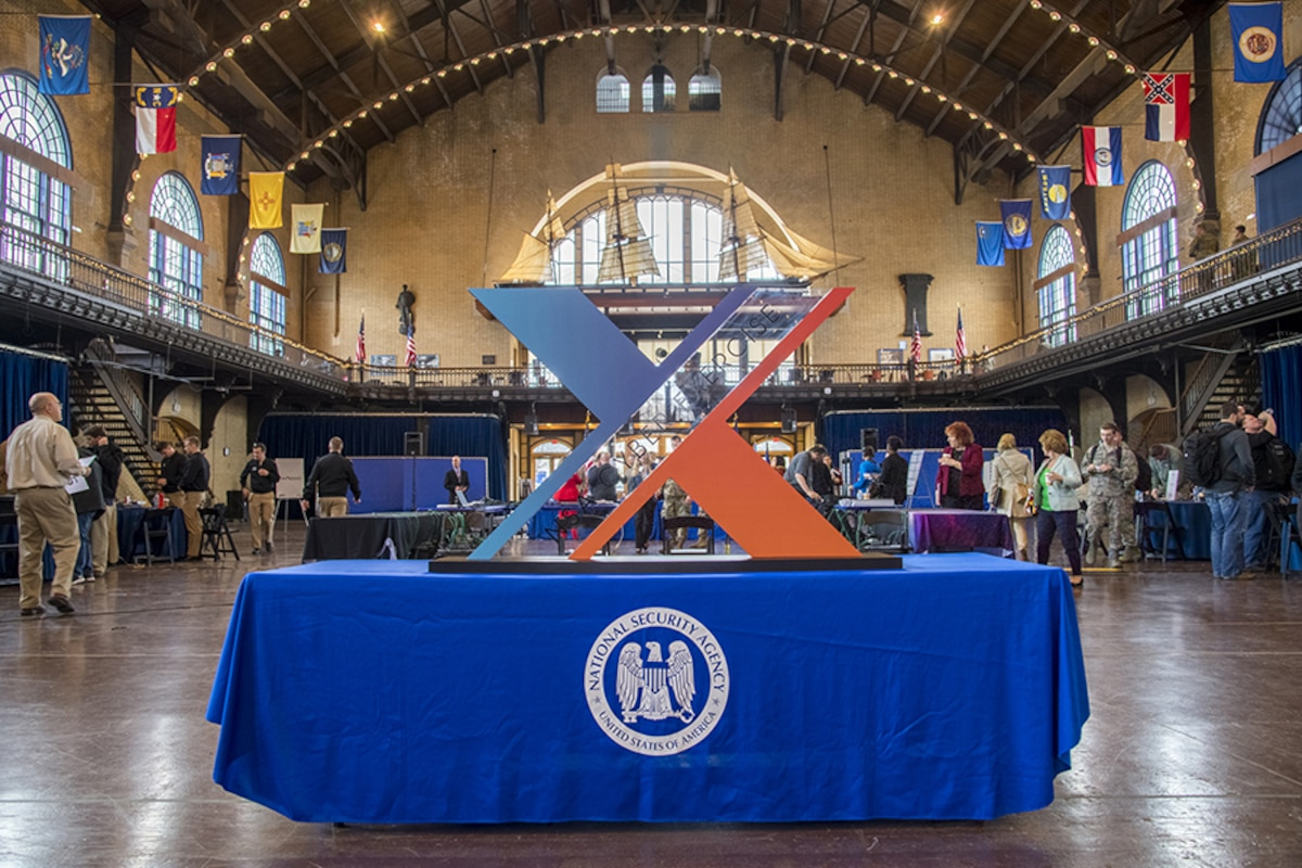 NCX logo is on display on a table at the 2018 NCX in Annapolis, MD