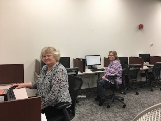 Katherine McGrath, Education and Training specialist (left), and   