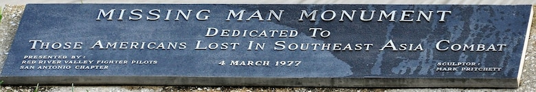Name plate on the Missing Man Monument at Joint Base San Antonio-Randolph, Texas. (U.S. Air Force photo by Janis El Shabazz)