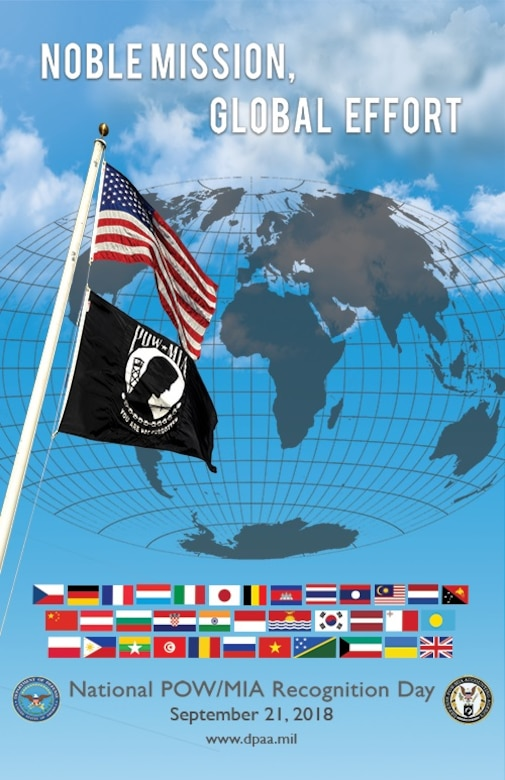 2018 National POW/MIA Recognition Day poster (Defense POW/MIA Accounting Agency graphic)