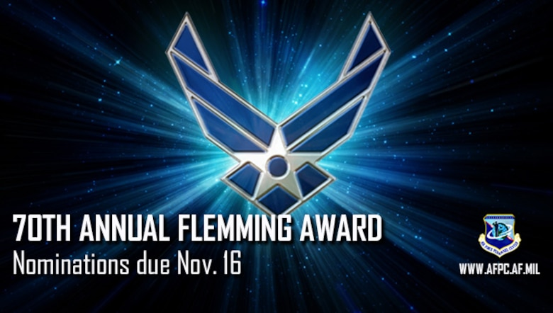 70th Annual Flemming Award; Nominations due Nov 16
