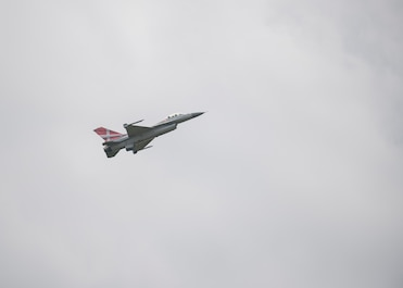 A Royal Danish Air Force F-16C Fighting Falcon flies above Ostrava Air Base, Czech Republic, during NATO Days. NATO Days is a Czech Republic-led air show and exhibition that showcases military ground and aviation capabilities from 19 nations. Participation in NATO Days increases our understanding of European ally and partner capabilities, greatly enhancing our ability to operate together as a team. (U.S. Navy photo by Mass Communication Specialist 2nd Class Robert J. Baldock)