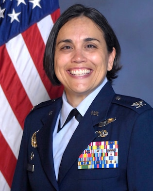 U.S. Air Force Col. Esther C. Sablan poses for an official photo.