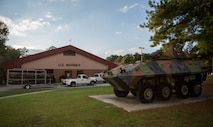 Marines and Sailors from across 4th Marine Division arrive at the McCrady Training Center, South Carolina, Sept. 17, 2018, in preparation to respond to Hurricane Florence. Marine Forces Reserve has a great deal of expertise in the area of response and recovery, gained from Humanitarian Assistance/Disaster Relief across the globe and is part of a coordinated response poised to provide Department of Defense support to FEMA, state and local response efforts during Hurricane Florence. (U.S. Marine Corps photo by Cpl. Andy O. Martinez)