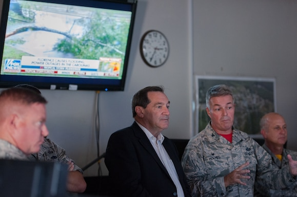 181st IW hosts U.S. Sen. Donnelly for base tour