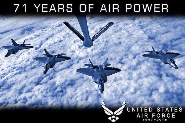 September 18, 2018 marks the 71st anniversary of the creation of the United States Air Force. Formerly the Army Air Corps, the Air Force gained its status as a branch of the United States Armed Forces with the passing of the National Security Act of 1947. (U.S. Air Force graphic / Senior Airman Harrison Withrow)