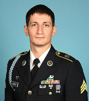 U.S. Army Sgt. Robert Sheetz, Company A, 1st Battalion, 157th Infantry (Mountain), Colorado Army National Guard is competing in the Army National Guard National Best Warrior Competition, July 23-27 2018 in Fort Indiantown Gap, Pennsylvania. Sheetz serves as a fire team leader for the COARNG and a civilian law enforcement officer for the Adams County, Colorado Sheriff's Office. (Official Department of the Army photo,