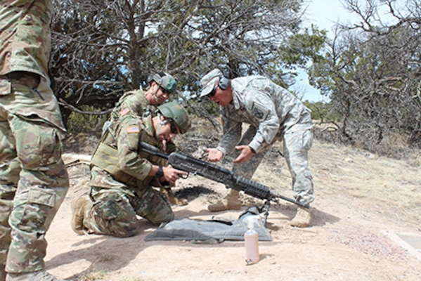 Colorado National Guard members compete in the 2017 Best Warrior Competition at Fort Carson, Colorado, April 6-9, 2017. The Best Warrior Competition is an intense, three-day test of top-performing service members from all units of the CONG. the competition typically includes a stressed live-fire exercise, a medical evacuation drill, a night land navigation course, and comprehensive military skills tests. (U.S. Army National Guard photo by Capt. Ronald Bailey)