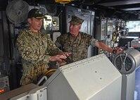 7th Fleet Leadership Welcomes Marine Forces Japan aboard USS Blue Ridge