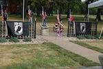 POW/MIA flags at outdoor memorial