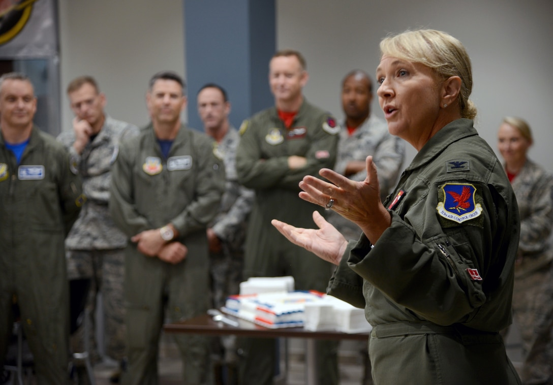 """""""Good things come to those who work hard for it,"""" quoted Col. Laurie Dickson, commander of the 513th Air Control Group, as she welcomed guests to the ribbon cutting ceremony for Bldg. 461, the new home of the Thumpers.The 513th is a Reservist group which supports the 552nd Air Control Wing. The new 30,000 sq. ft. operations center will combine the 513ACG, the 513th Operations Support Flight (513OSS) and the 970th Airborne Air Control Squadron, after 20 years of being geographically separated on base."""