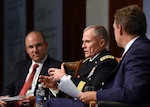 Defense Intelligence Agency Director Army Lt. Gen. Robert P. Ashley Jr. takes part in a Center for Strategic and International Studies event in Washington, Sept. 17, 2018. DoD photo by Dave Richards