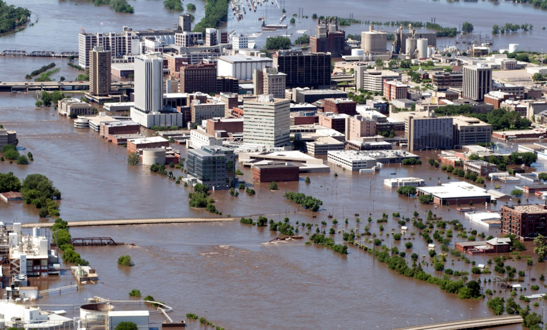 Downtown Cedar Rapids, June 2008