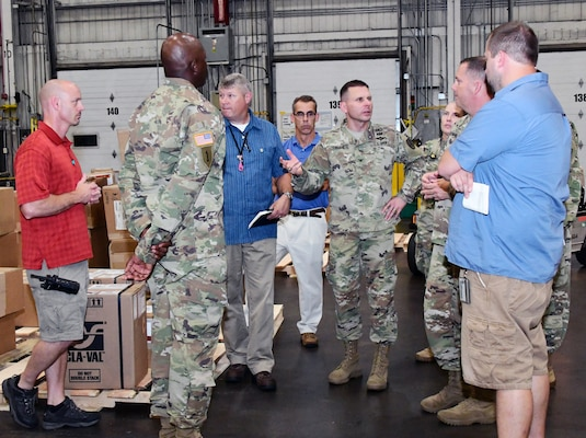 DLA HQ Army National Account Managers visit Defense Distribution Susquehanna, Pennsylvania