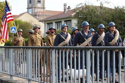 WWI Centennial Nonsard, France Bridge Crossing Reenactment