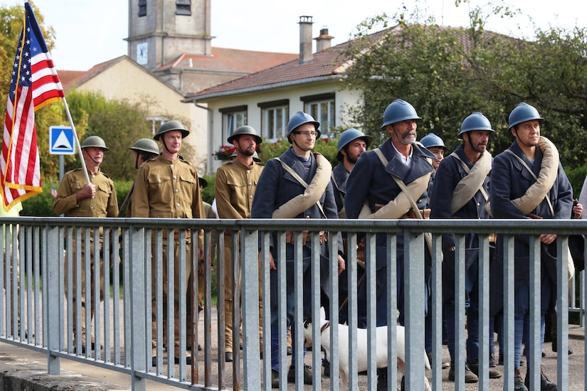 WWI Centennial Nonsard, France Bridge Crossing Reenactment