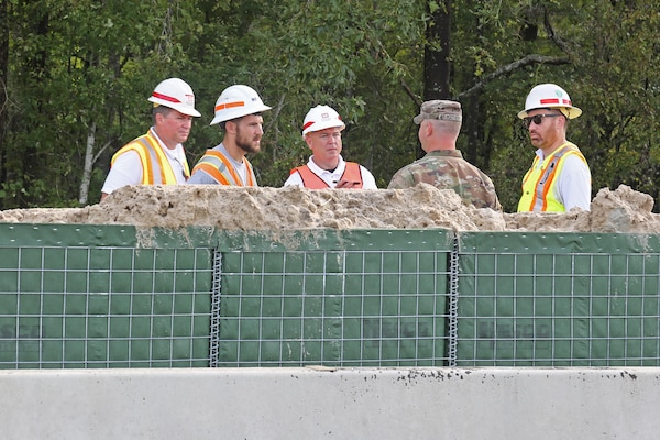 National Guard Installs HESCO Barriers