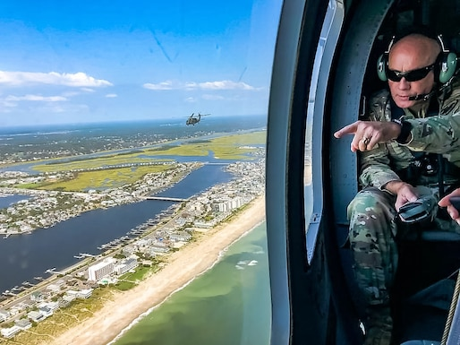 Lt. Gen. Luckey surveys Carolina coast after Florence