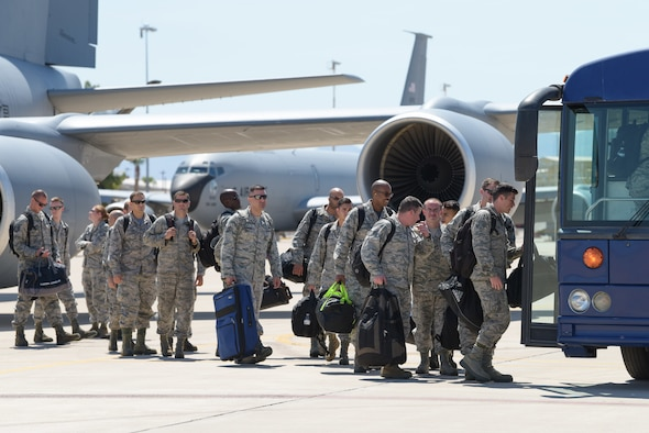 The 944th Fighter Wing hosted the over 1,700 mile mass movement during their unit training assembly and all four entities worked together to ensure the cross country trip happened without a hitch.